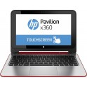 HP Pavilion x360 11-n003ng Touch 360° 2-in-1 Multi-Modus Notebook brilliant red