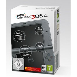 Nintendo New 3DS XL Konsole (EU) metallic schwarz